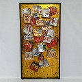 <b></b>  Cans Art Wall (Gold)    60X13X120 Cm