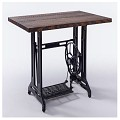 <b></b> Sewing mechin wood top table