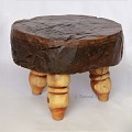 <b></b> Teak wood stool low legs