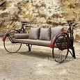<b>NH16.CHR.003B</b> Becak Sofa With 2 Saddle