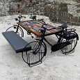 <b></b> Dining Table Bicycle 2 (Wood Lamination)