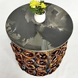 <b></b> Rose Gold Cans Coffe Table         62X55 Cm