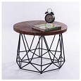 <b></b> Side table Diamond / Wooden Top Cir Black M